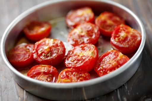 Geroosterde tomaten stock