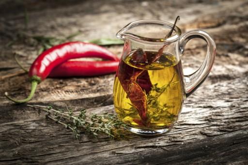 Stock chili olie