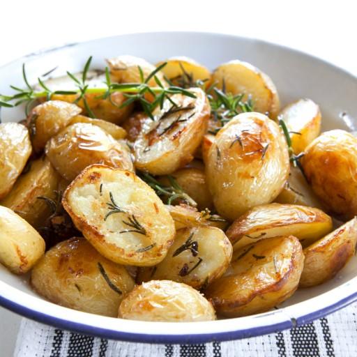 Stock geroosterde aardappels 2