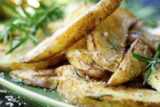 Stock geroosterde aardappels 3