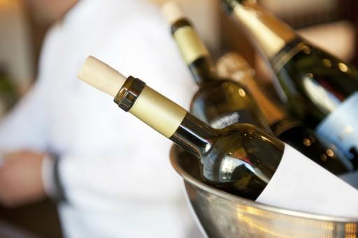 Wijn flessen stock