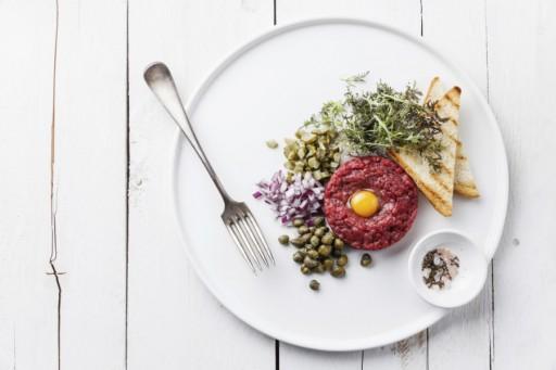 Steak tartare stock eten als je zwanger bent