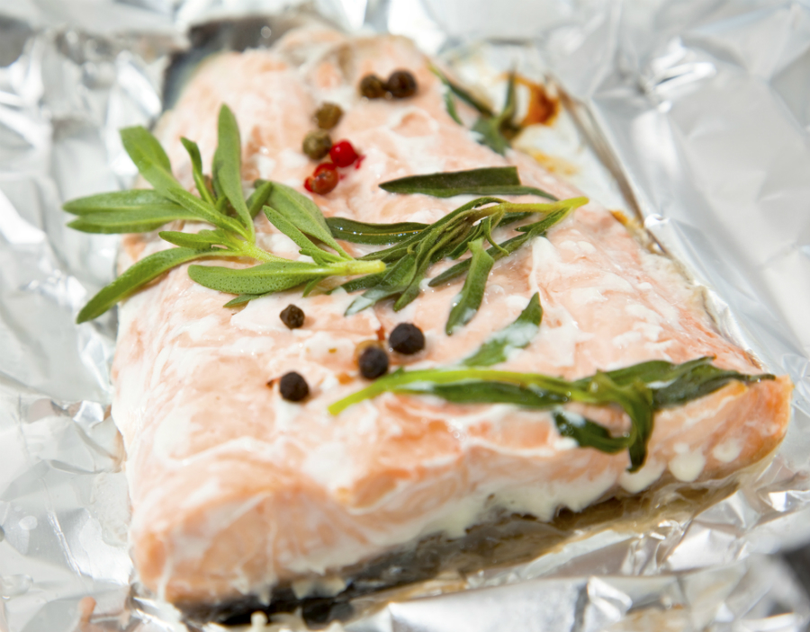 zalm in folie in oven hoe lang