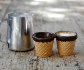 Geniaal: eetbare espressokopjes van koekjes en chocolade
