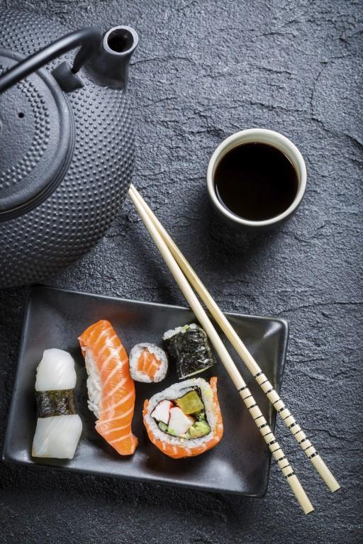 Sushi eten stock