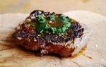 Biefstuk met homemade kruidenolie