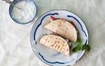 Gegrilde kip met garam masala, ingemaakte ui en muntolie