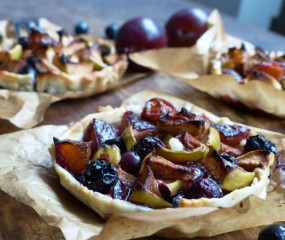 Taartjes met herfstfruit