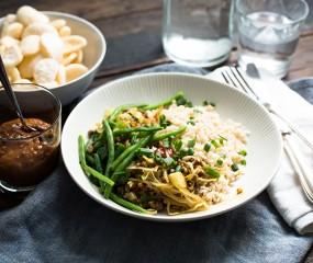 Koken met aanbiedingen: nasi met gehakt en sperzieboontjes