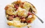 Bread & butter-pudding met amandelspijs en vijgen