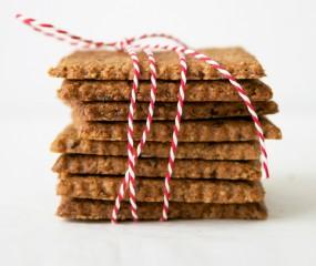 Gezonde koekjes met amandelboter en lijnzaad