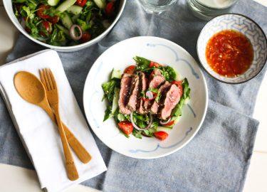 Thaise biefstuksalade