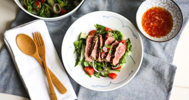 Koken met aanbiedingen: Thaise biefstuksalade