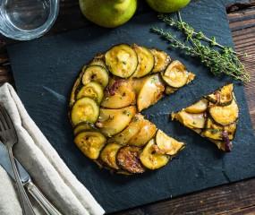 Koken met aanbiedingen: tarte tatin met courgette en peer