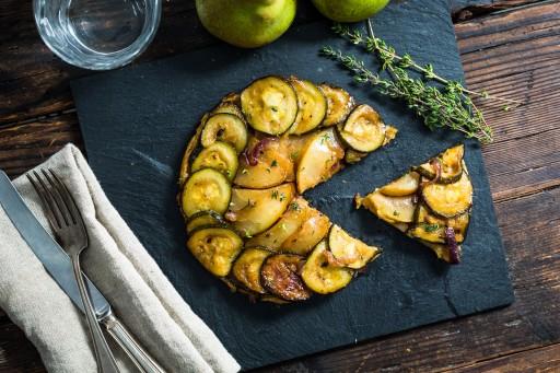 Koken met aanbiedingen tarte tatin met courgette