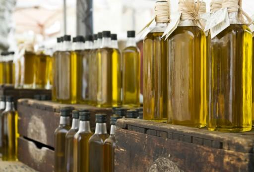 Olijfolie stock