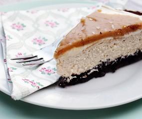 Oh my god: salted caramel cheesecake mét Oreo bodem