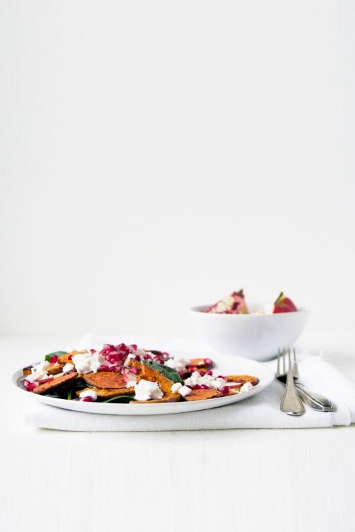 Salade met zoete aardappel