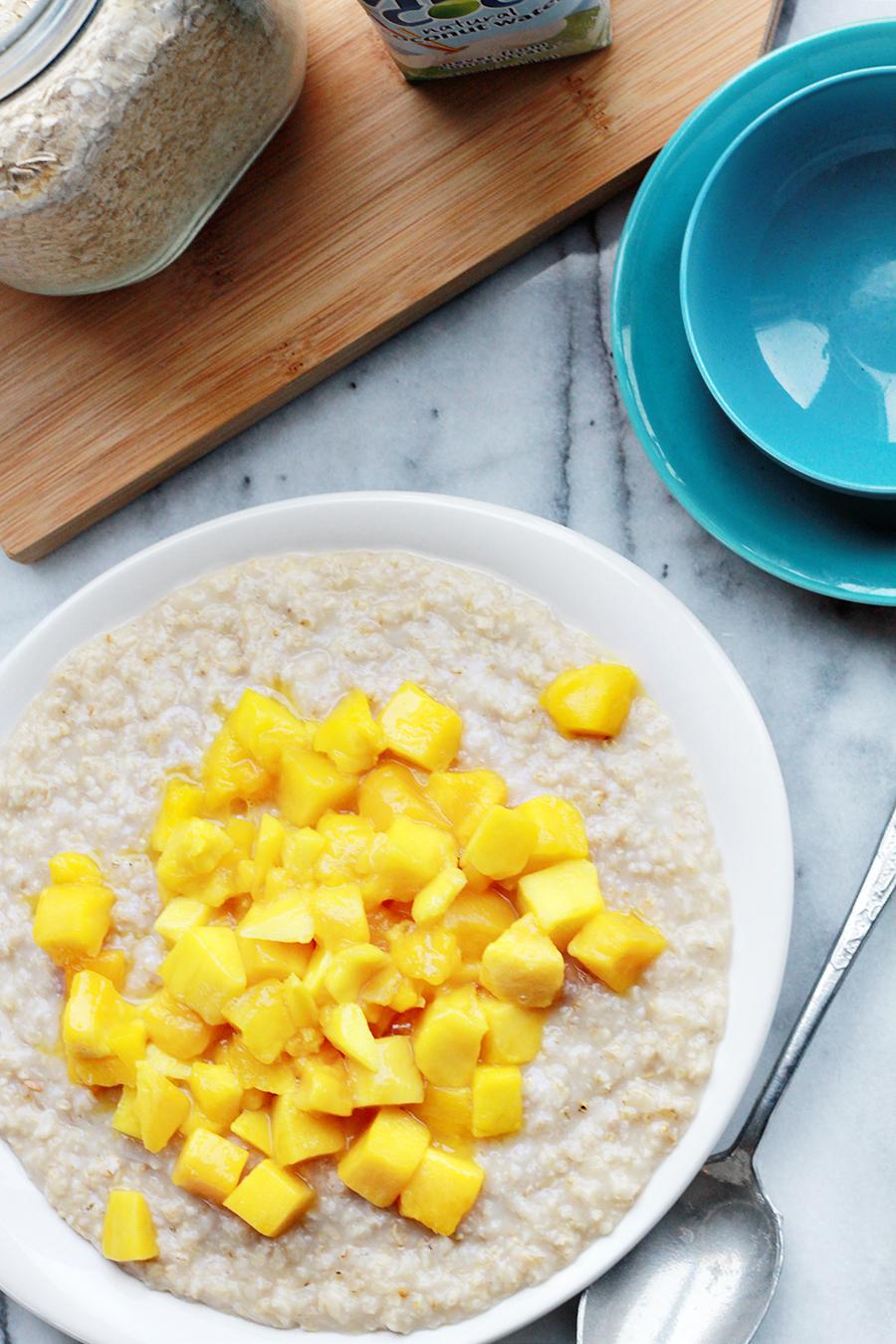 Afbeelding van zoete havermout gezond ontbijt