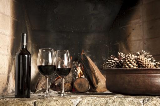 Wijn glazen stock