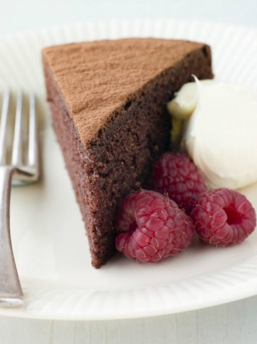 Chocolade taart cake stock
