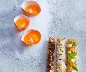 Sterrengerecht van Niven Kunz: gepocheerde eitjes met croutons
