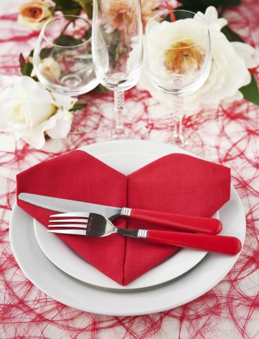 Romantisch valentijn servet stock