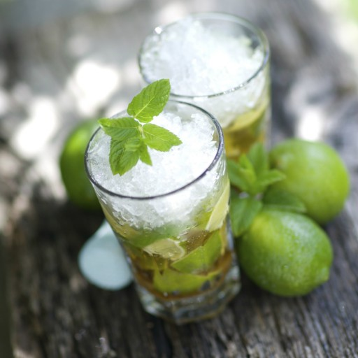 Caipirinha cocktail stock