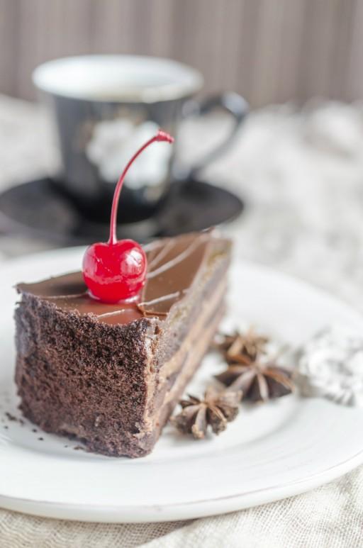 Chocoladetaart kerst stock