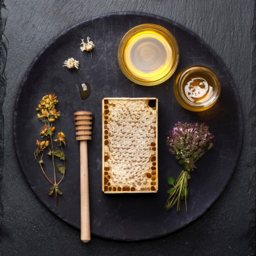 Stock rauwe honing