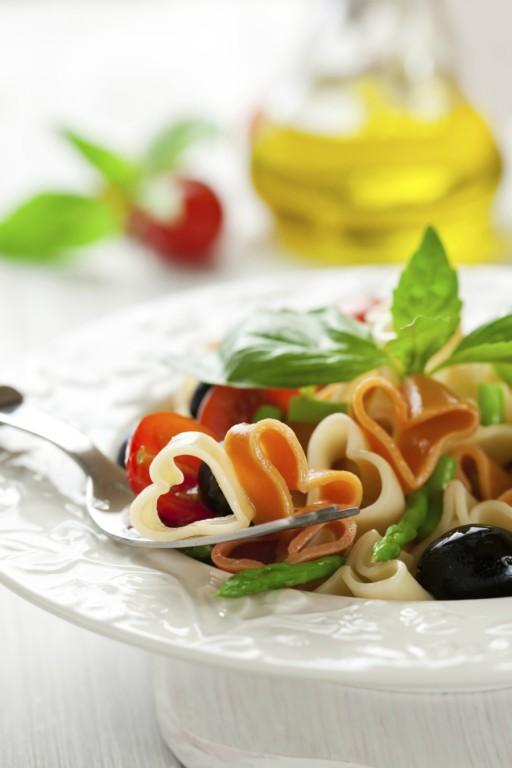 Valentijn hart stock pasta