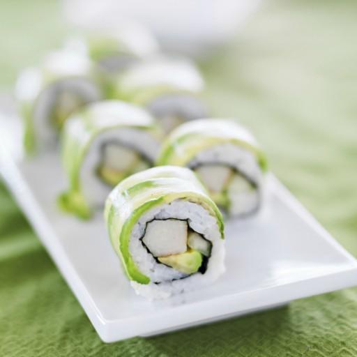 Avocado sushi stock2
