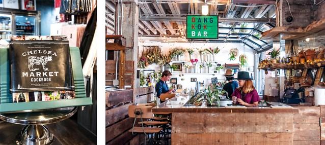 Chelsea Market en een bar in Gansevoort Market