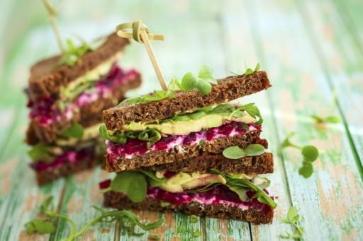 Sandwich avocado stock