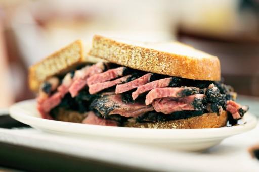 Stock pastrami sandwich