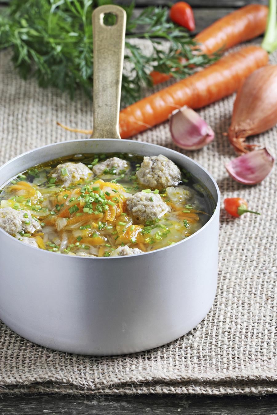 bouillon soep trekken