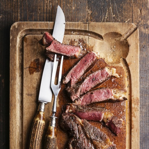 Vlees steak stock