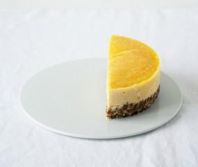 Raw mango-notentaartje zonder suiker