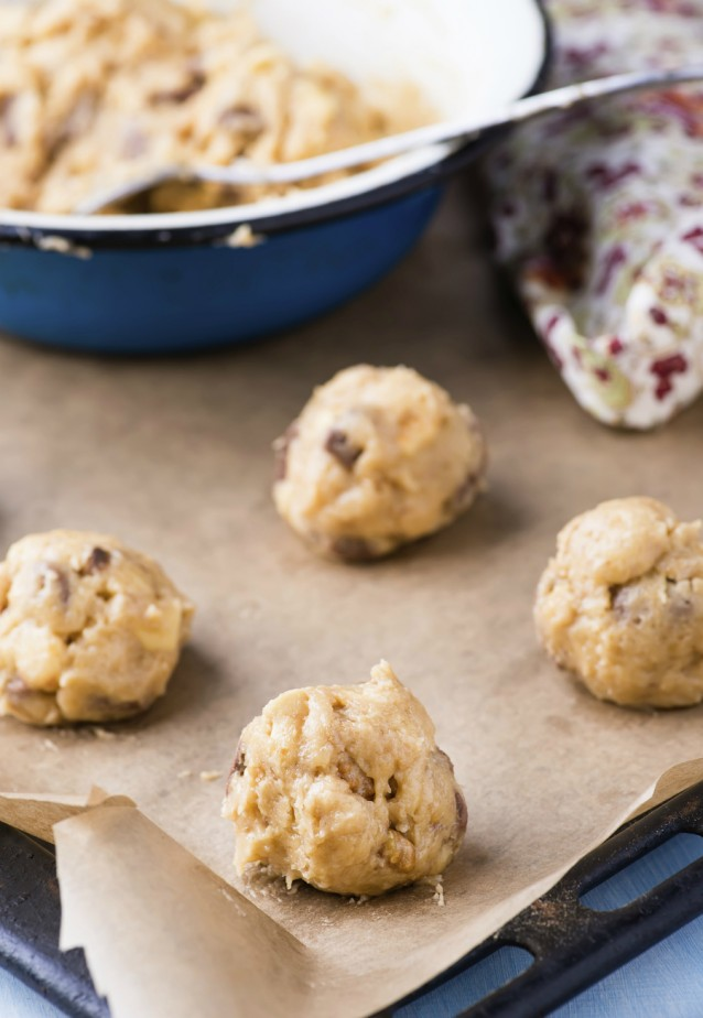 Cookie dough koekjesdeeg stock
