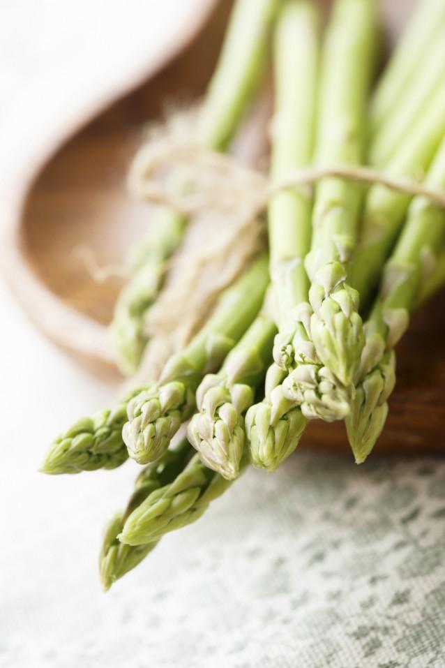 Groene asperges stock