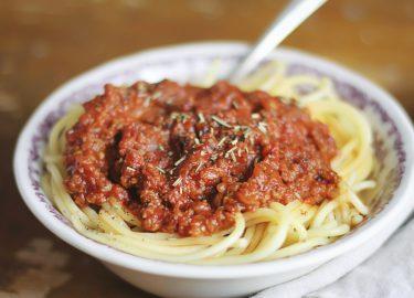 spaghettisaus recept