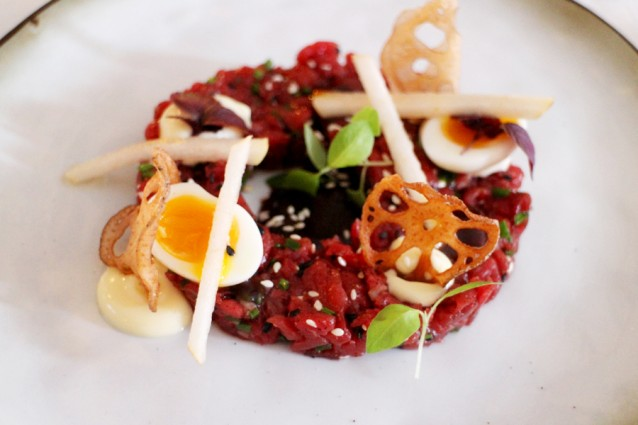 Asian style steak tartare