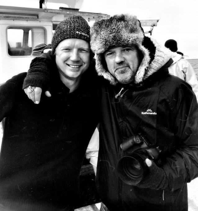 Bart van Olphen en David Loftus op de boot