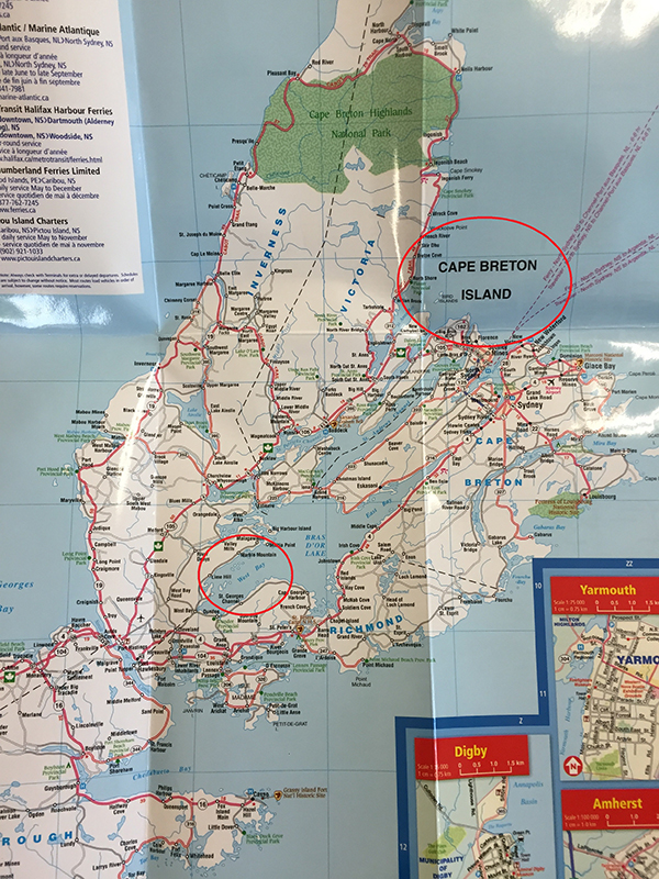 Nova Scotia kaart