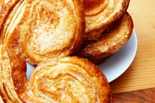 Palmiers koekjes stock