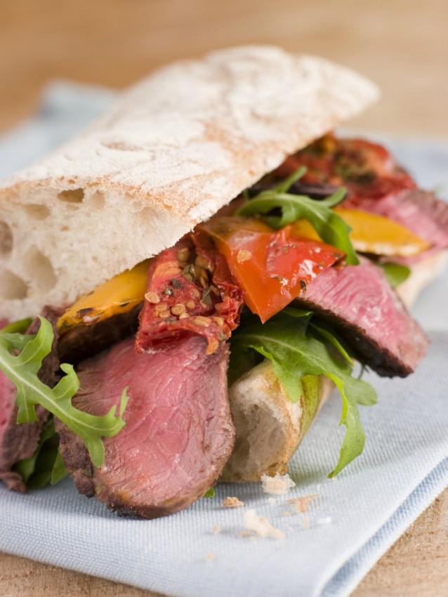 Steak sandwich stock