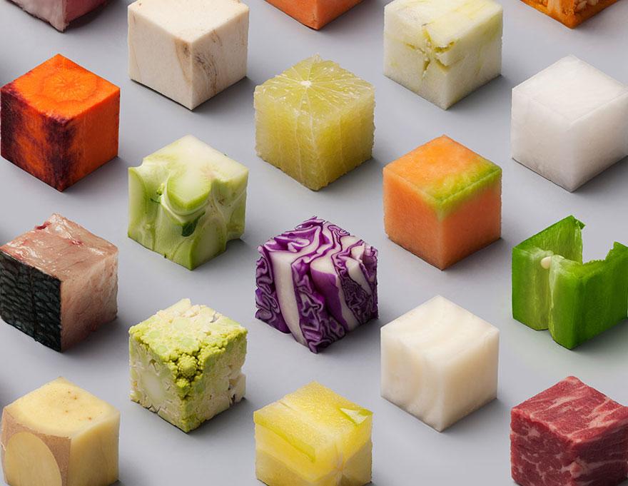 Wauw: dit Nederlandse duo sneed 98 perfecte vierkantjes van eten