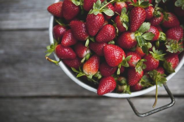 Aardbeien stock