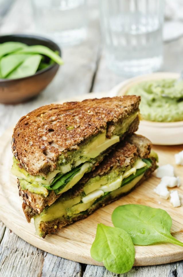 Broodje sandwich stock