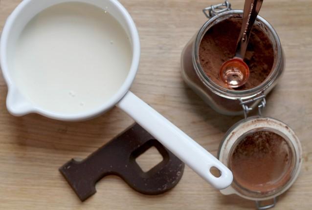 Chocolademelk van chocoladeletter0002